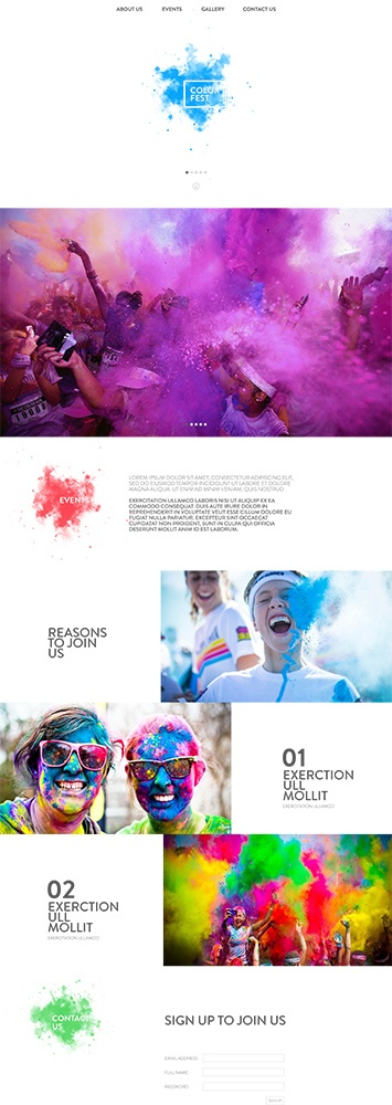 ColorFest web layout